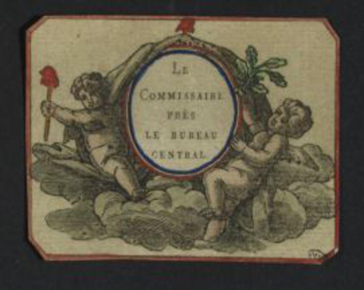 Carte : Le commissaire près le bureau central Estampe