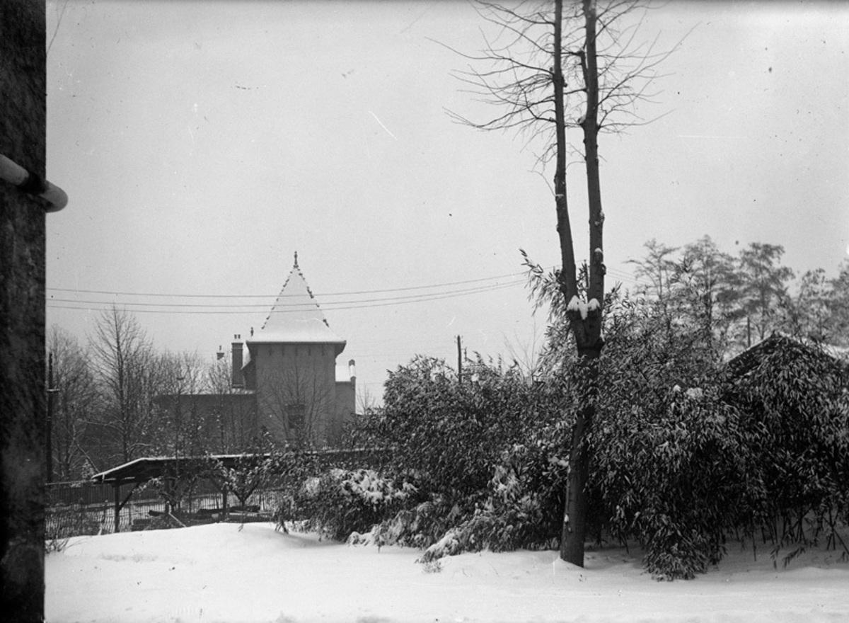 Maison d'Achille Bergès sous la neige Photographie
