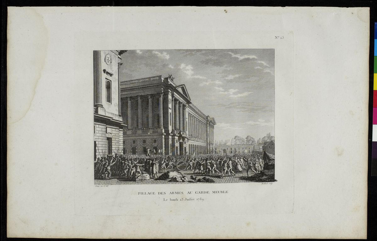 Pillage des armes au garde-meuble, le lundi 13 juillet 1789 Arts graphiques