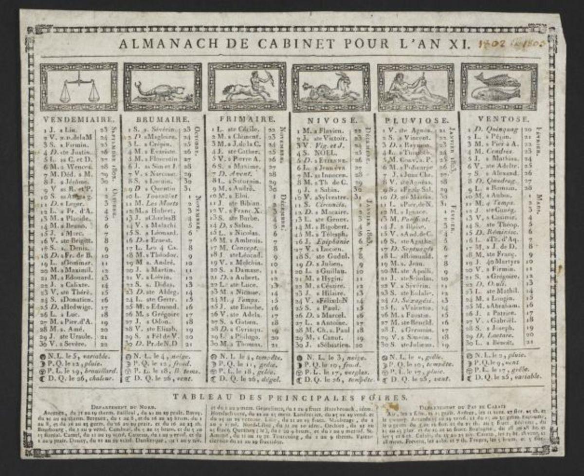 Almanach de Cabinet pour l'an XI Estampe