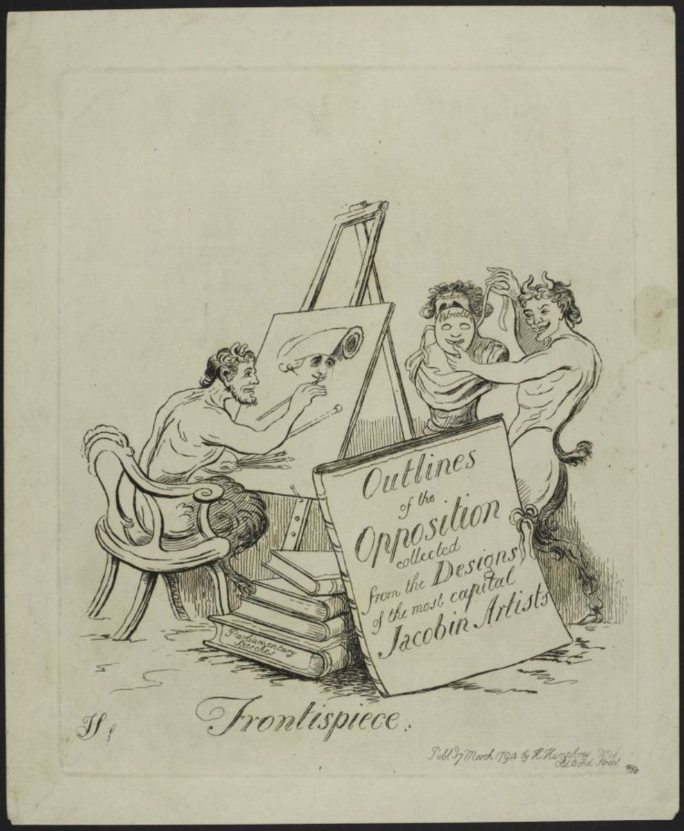 Frontispiece : Outlines of the Opposition collected Estampe
