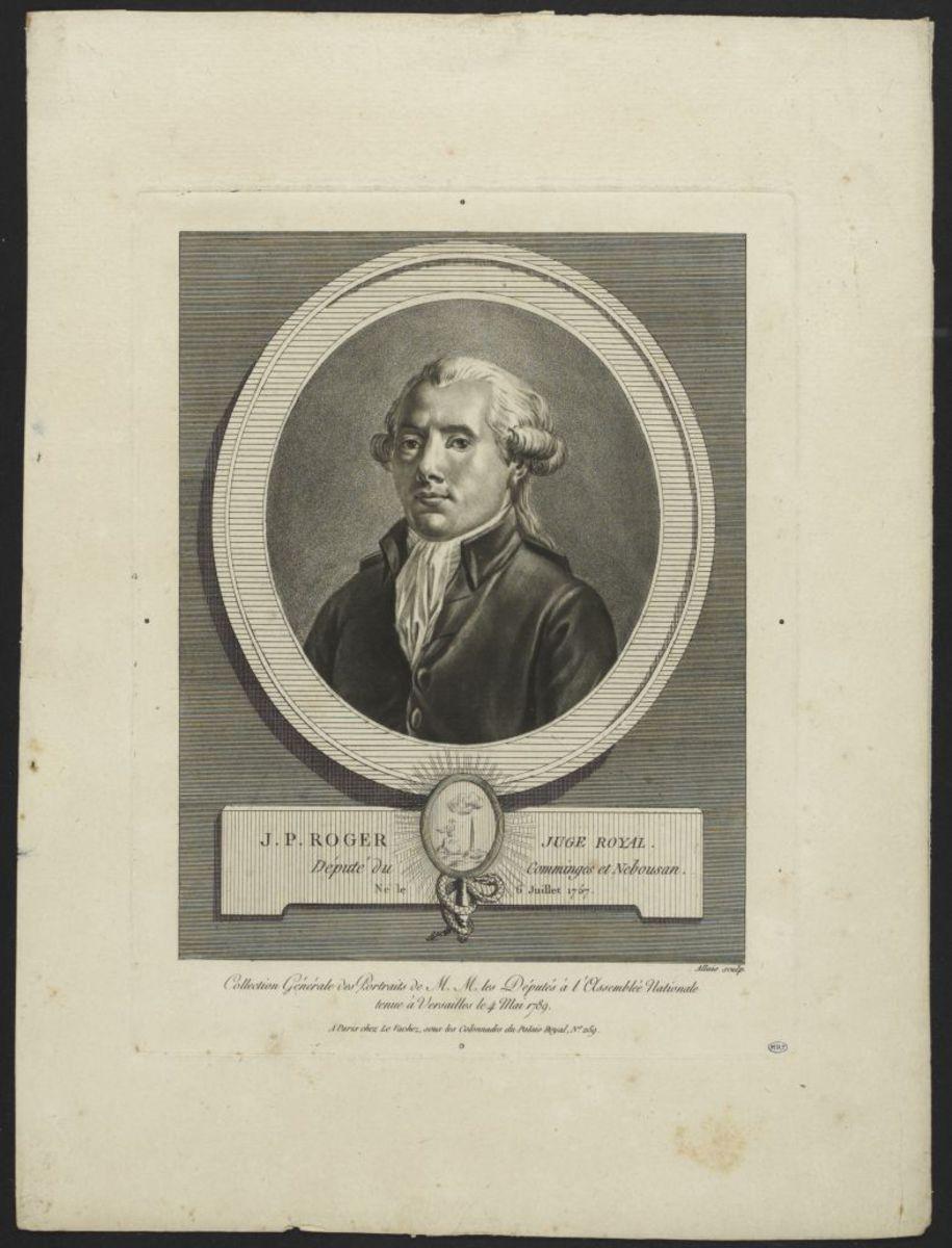 Jean Pierre Roger, juge royal. Député du  Comminges et Nebousan Estampe