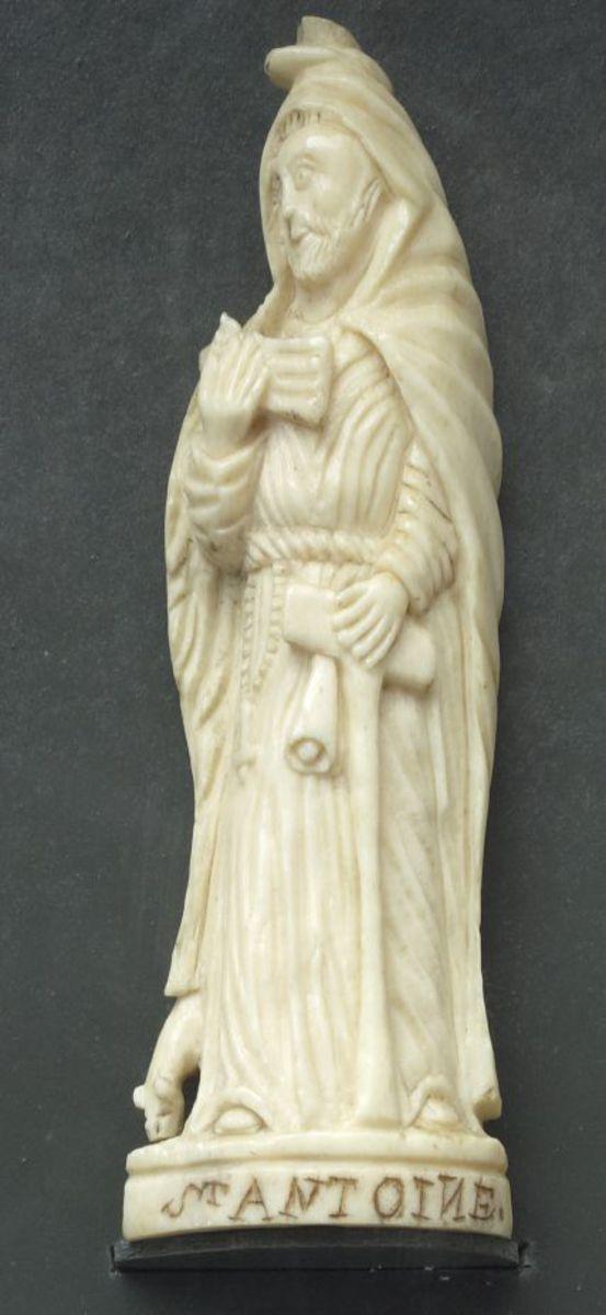 Saint Antoine l'Egyptien sculpture