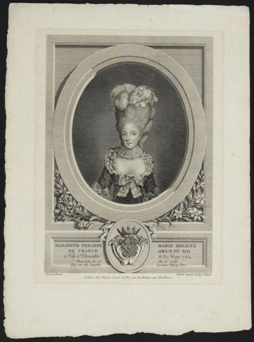 Elisabeth Philippe Marie Hélène de France, soeur du roi Estampe