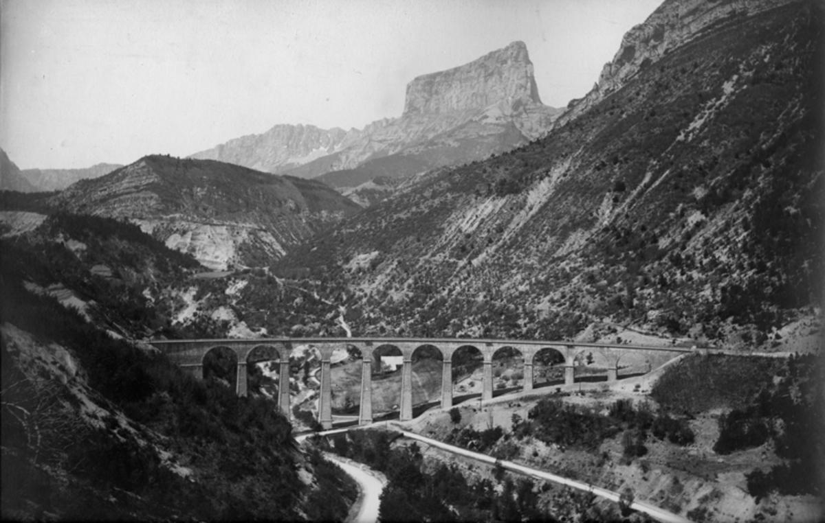 Ligne de chemin de fer de Gap et Mont Aiguille Photographie 1890