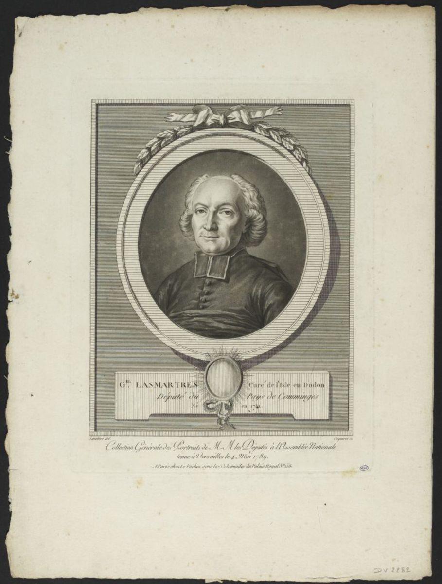 Gabriel Lasmartres, curé de l'Isle en Dodon. Député du Pays de Comminges Estampe