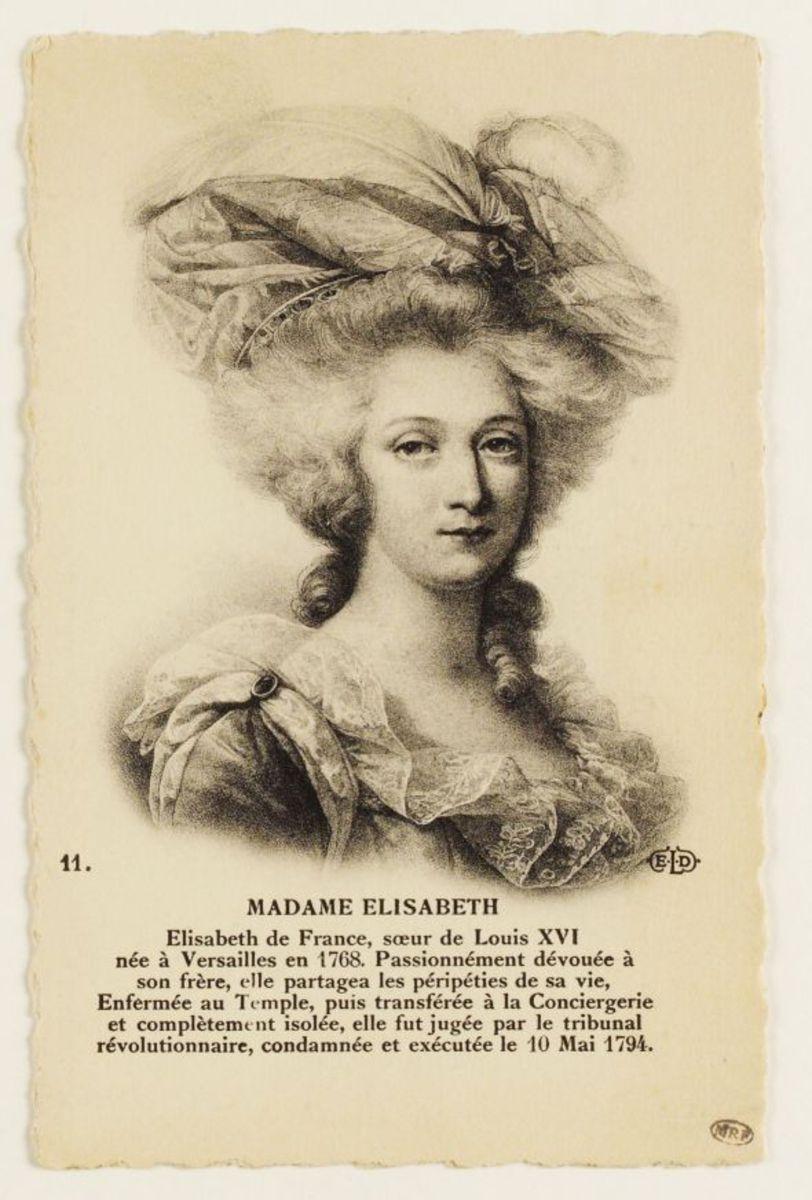 11. Madame Elizabeth Carte postale