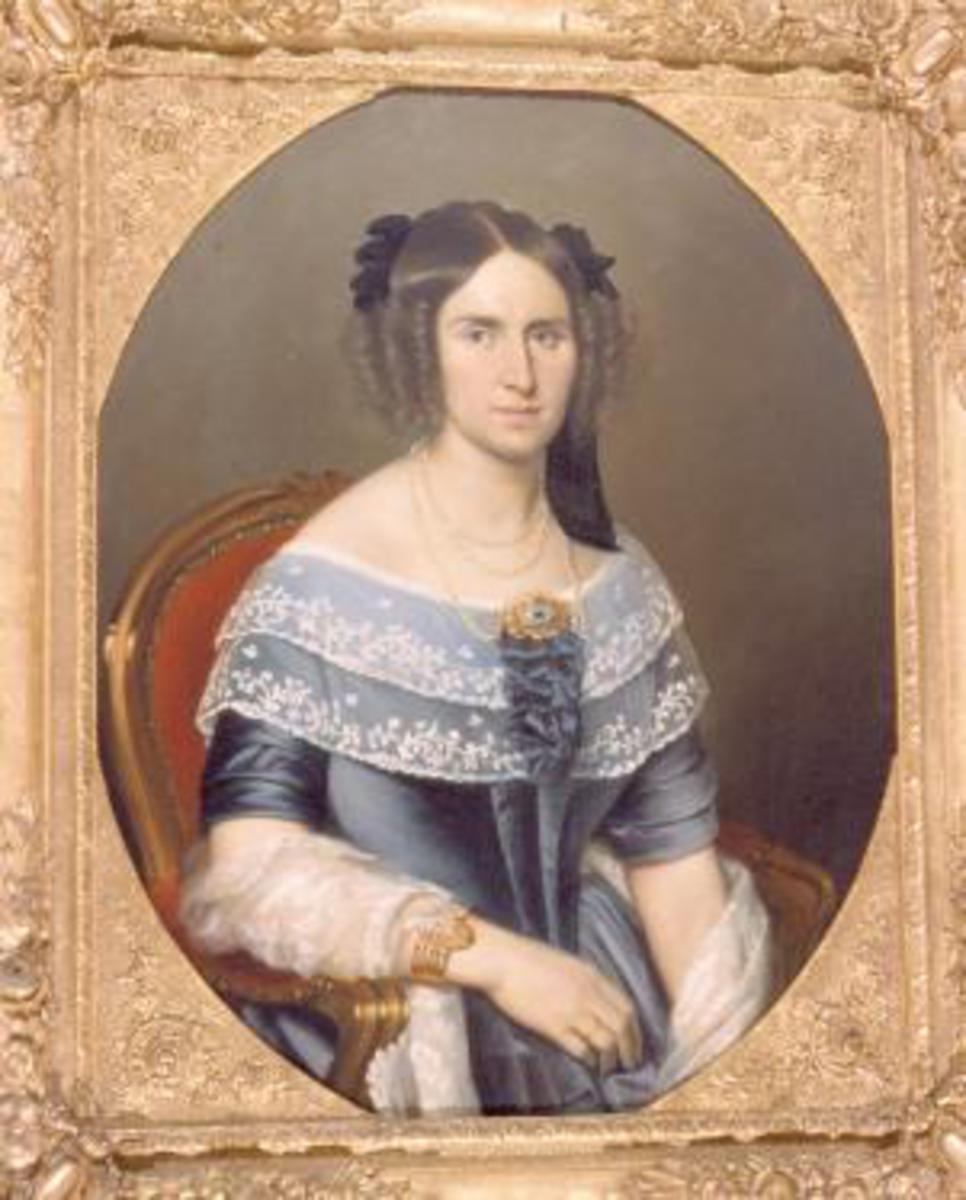 Portrait de Madame Amédée Burdet, née Odile Berlioz Peinture