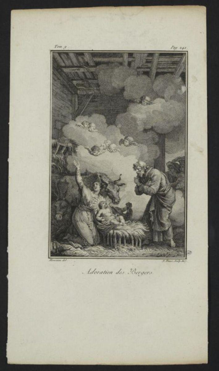 Adoration des Bergers Estampe