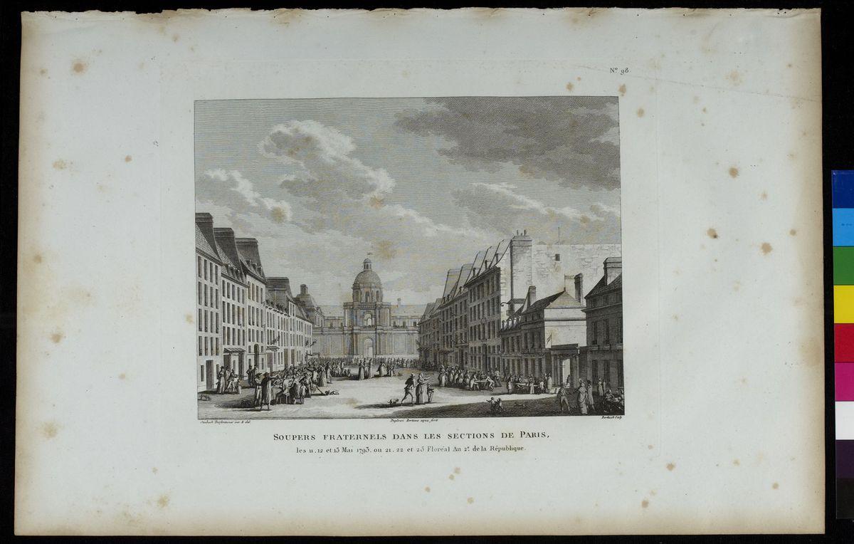 Soupers fraternels dans les sections de Paris, mai 1794 Arts graphiques
