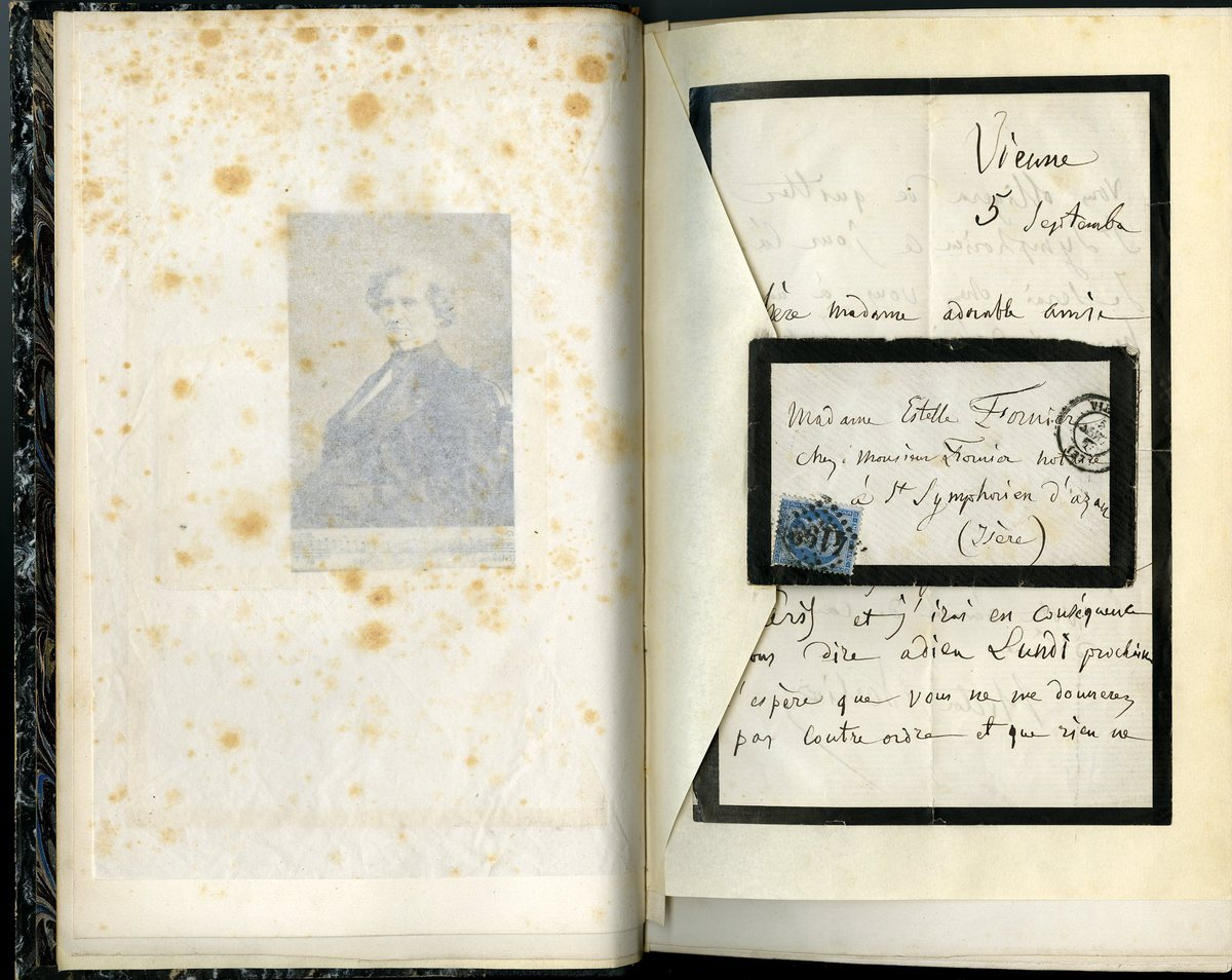 Lettre d'Hector Berlioz à Estelle Fornier Manuscrit 1867