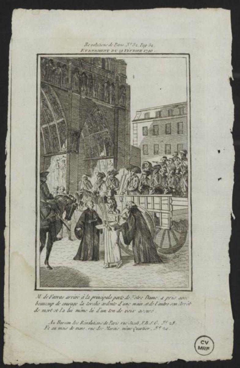 Evénement du 19 février 1790 Estampe