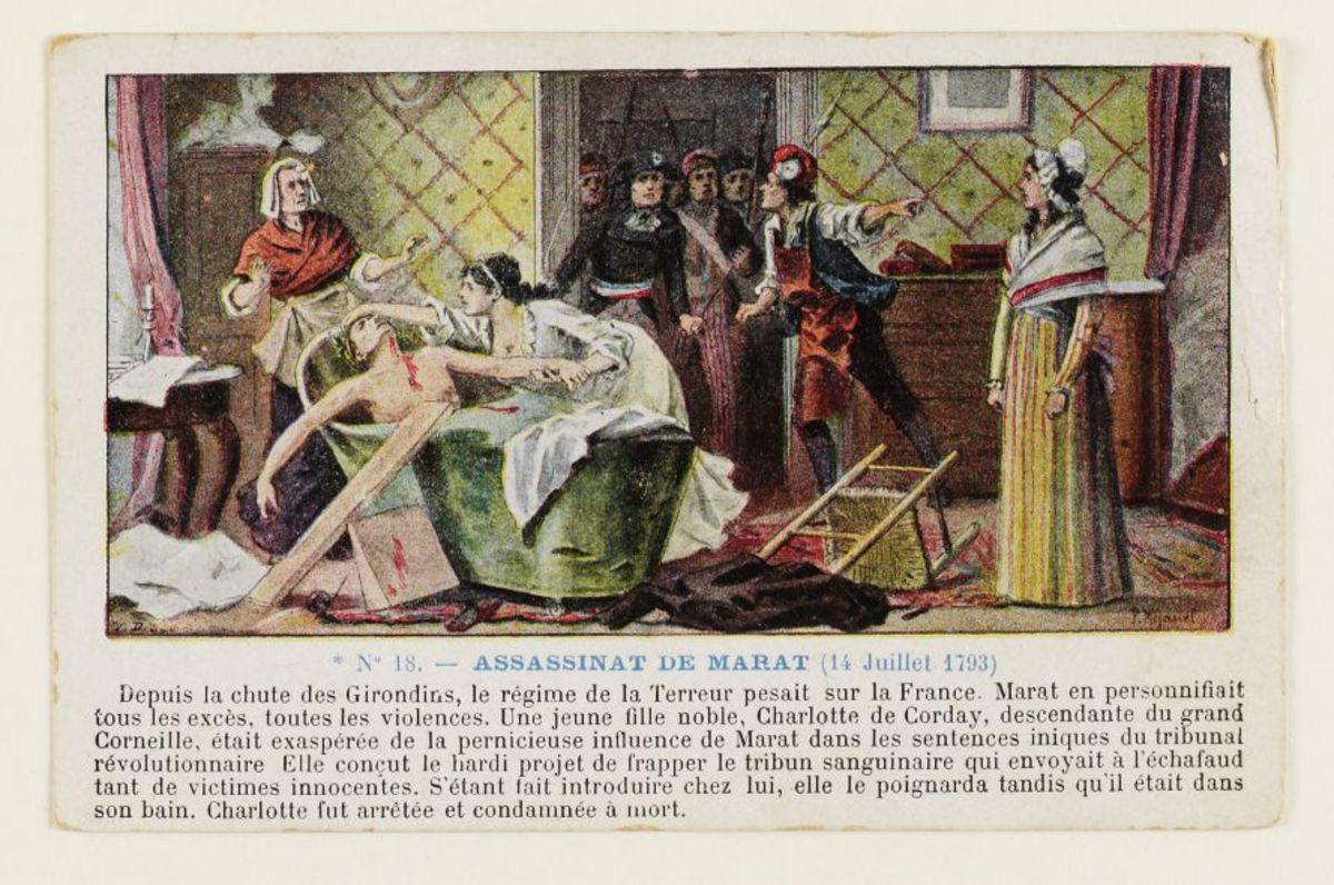 Assassinat de Marat (14 Juillet 1793) Carte postale