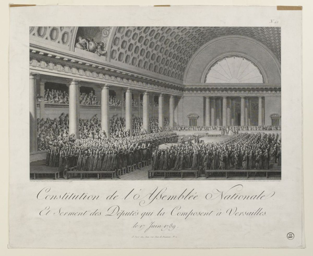 Constitution de l'Assemblée Nationale et Serment des Députés qui la composent à Versailles le 17 Juin 1789 Estampe