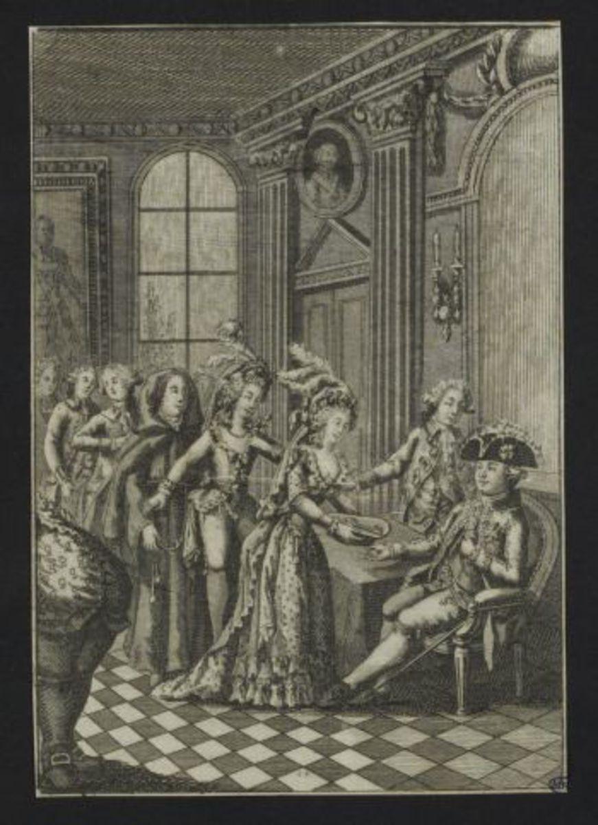 Les actrices chez le Roi Estampe