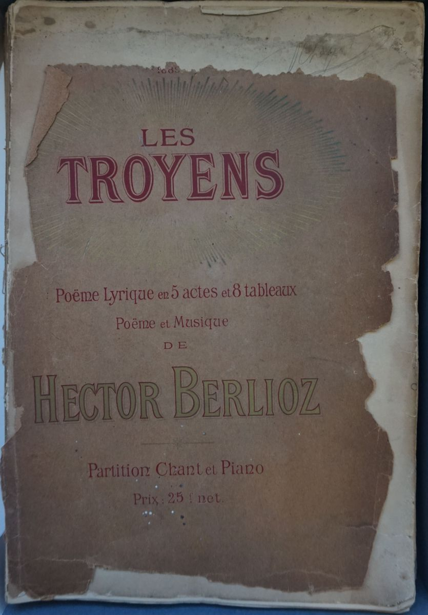 Les Troyens, Poème lyrique en 5 actes et 8 tableaux, poème et musique de Hector Berlioz, partition chant et piano  (titre inscrit)Les Troyens, partition chant et piano (titre factice) PARTITION IMPRIMEE