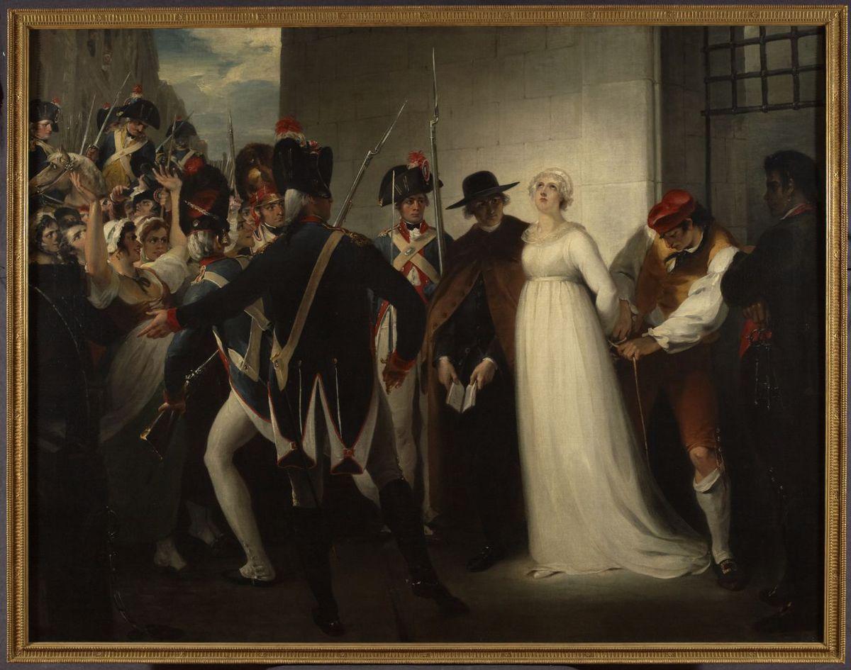 Marie-Antoinette quittant la conciergerie, le 16octobre 1793 Peinture