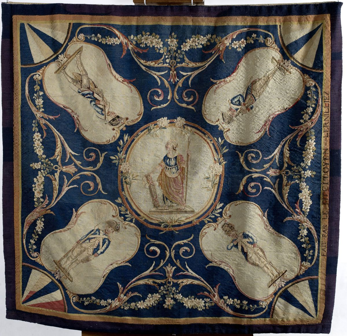 Tapisserie au décor de la République. Textile