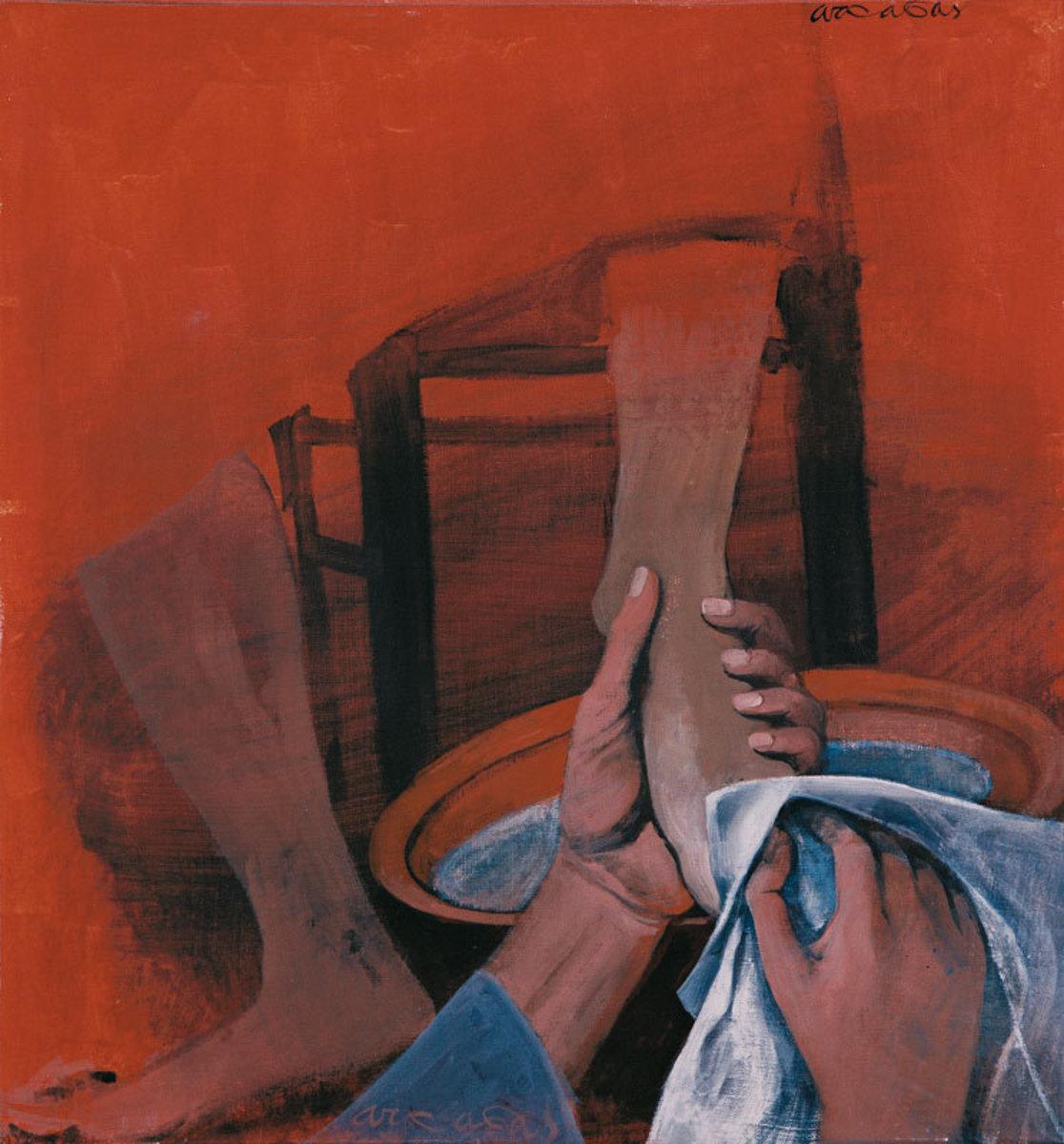 Lavement des pieds Peinture 1986