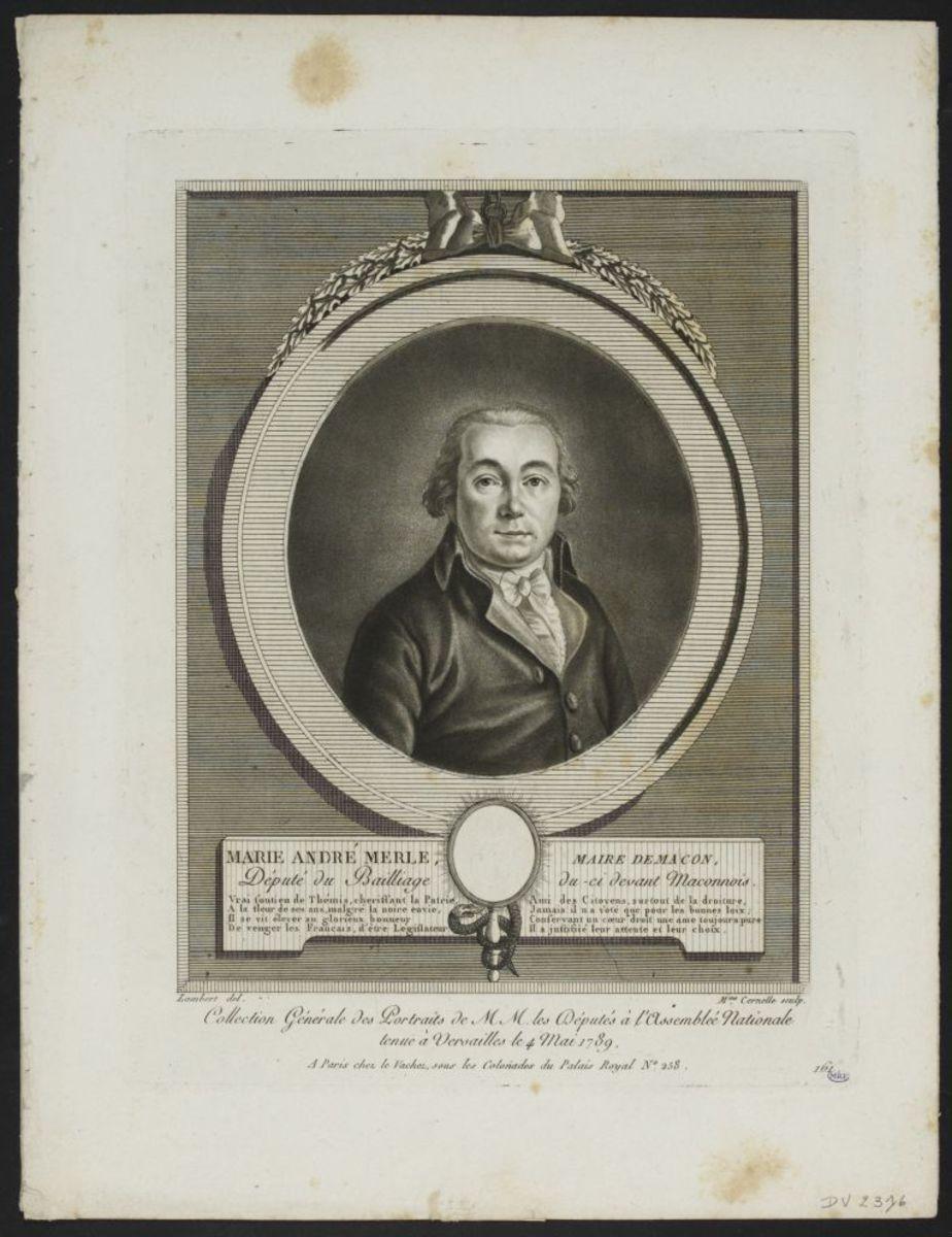 Marie André Merle. Député du bailliage de Macon Estampe