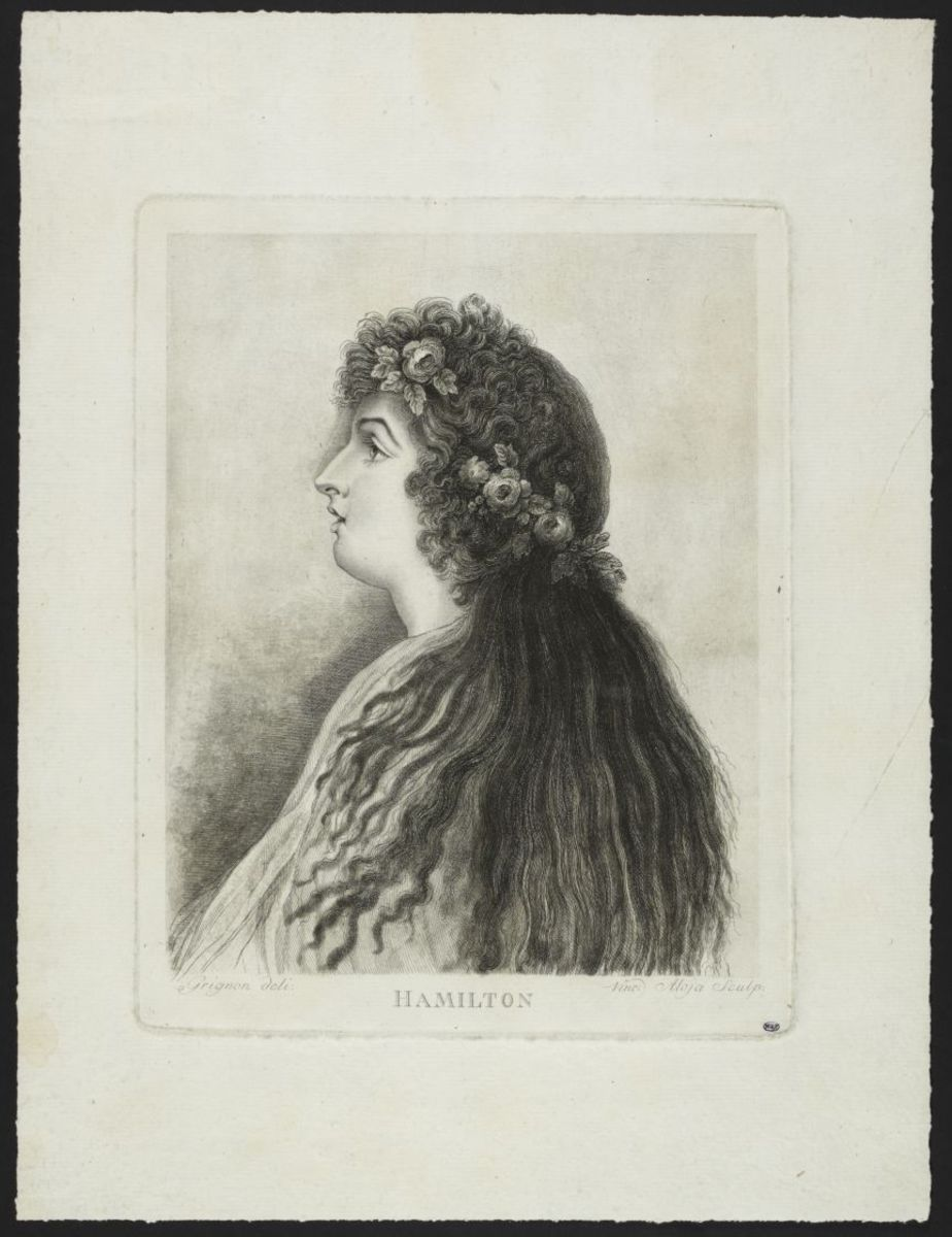 Lady Hamilton Estampe