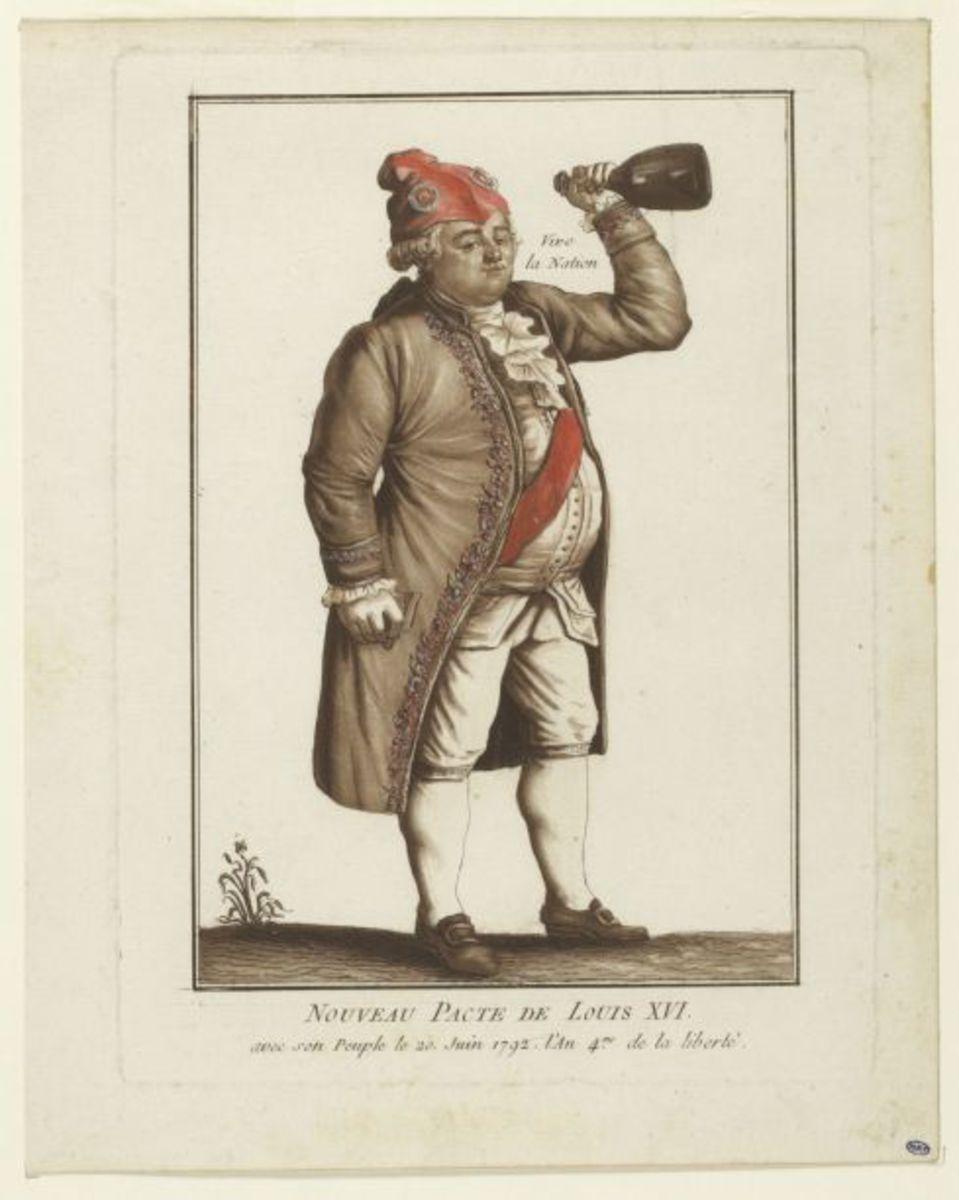 Nouveau pacte de Louis XVI avec son peuple, le 20 juin 1792, l'an 4 de la Liberté Estampe