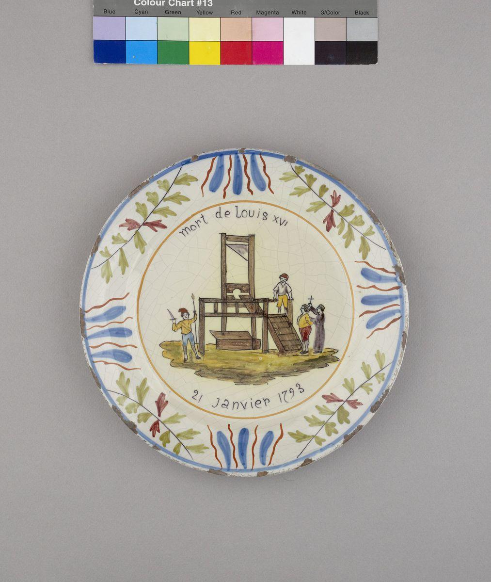 Mort de Louis XVI/21 janvier 1793. Céramique