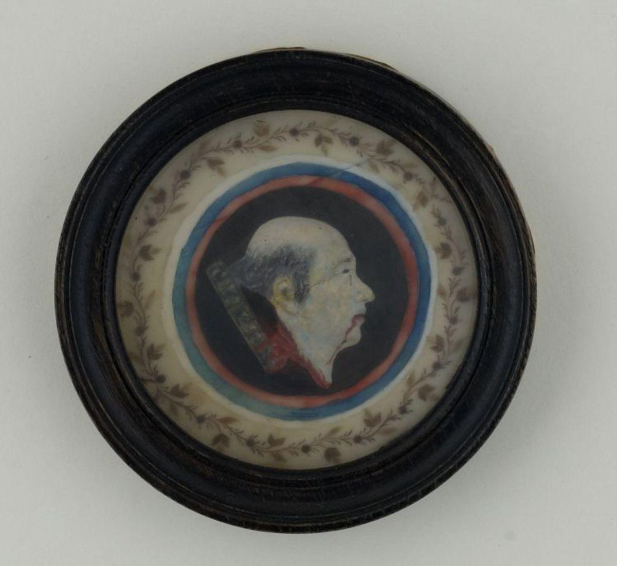 Joseph Chalier. miniature