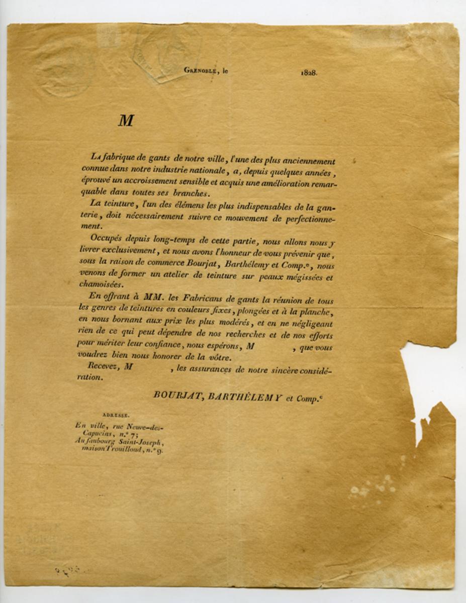 Correspondance 1828