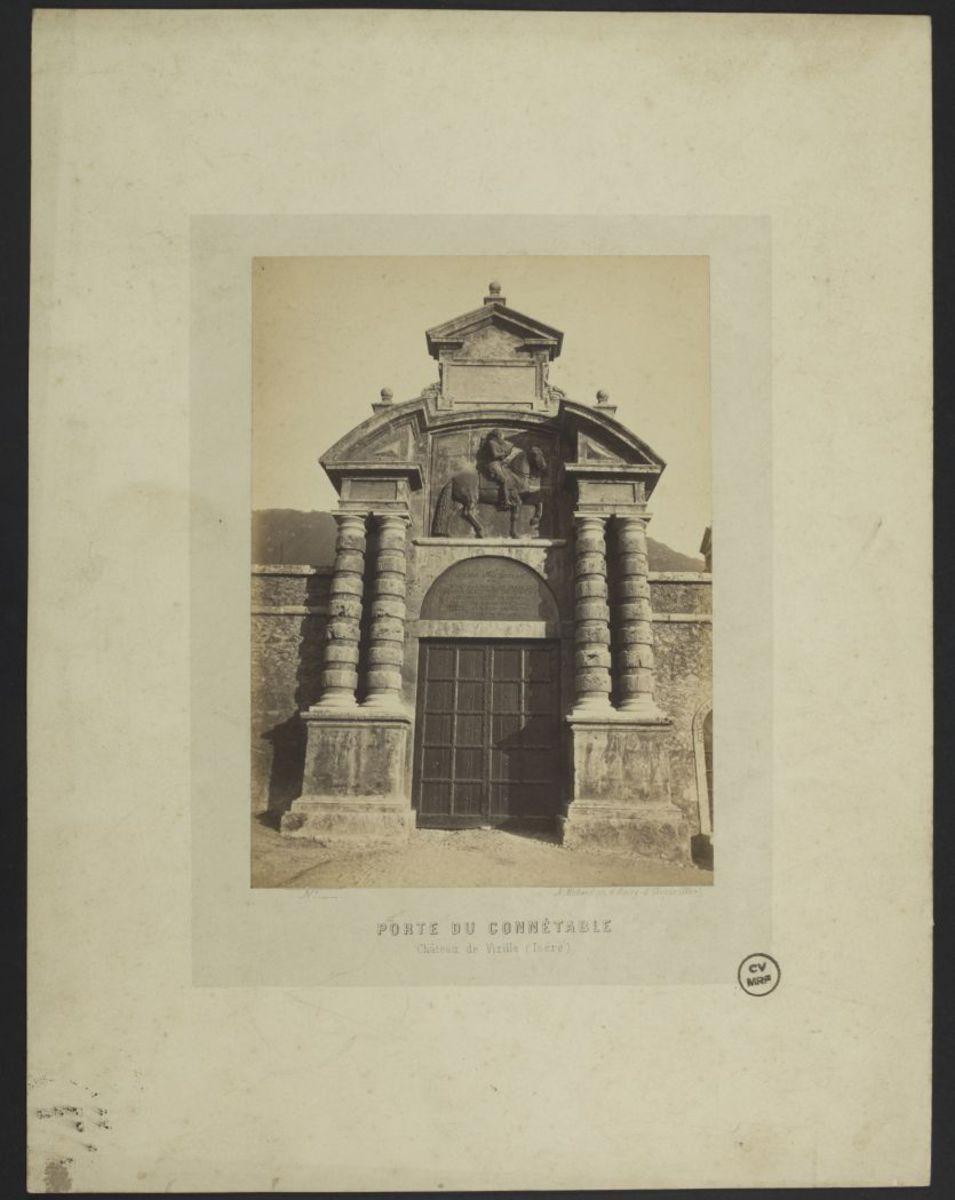 Porte du Connétable. Château de Vizille, Isère Estampe