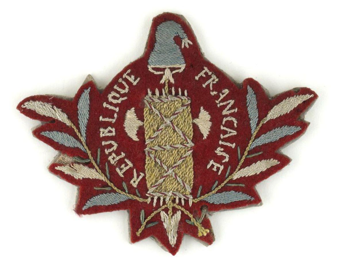 Insigne de bonnet de police volontaire textile