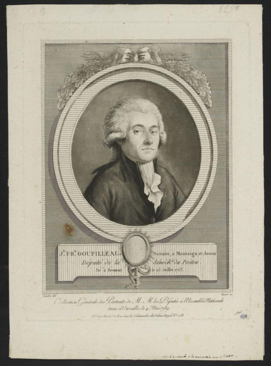 Jean François Goupilleau, notaire. Député de la sénéchaussée du Poitou Estampe