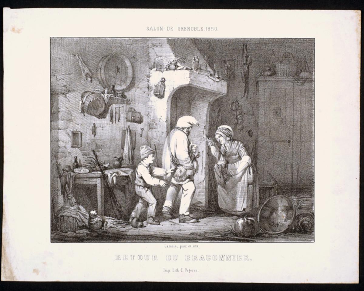 Retour du braconnage Arts graphiques 1850