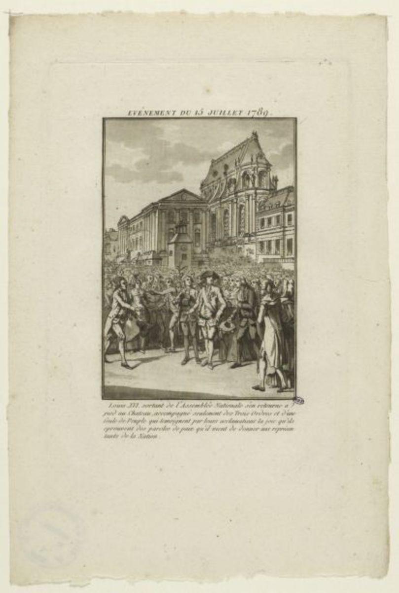 Evénement du 15 juillet 1789 Estampe