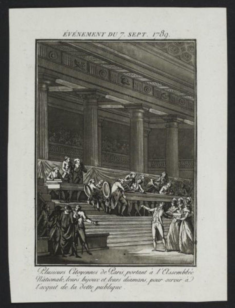 Evénement du 7 septembre 1789 Estampe