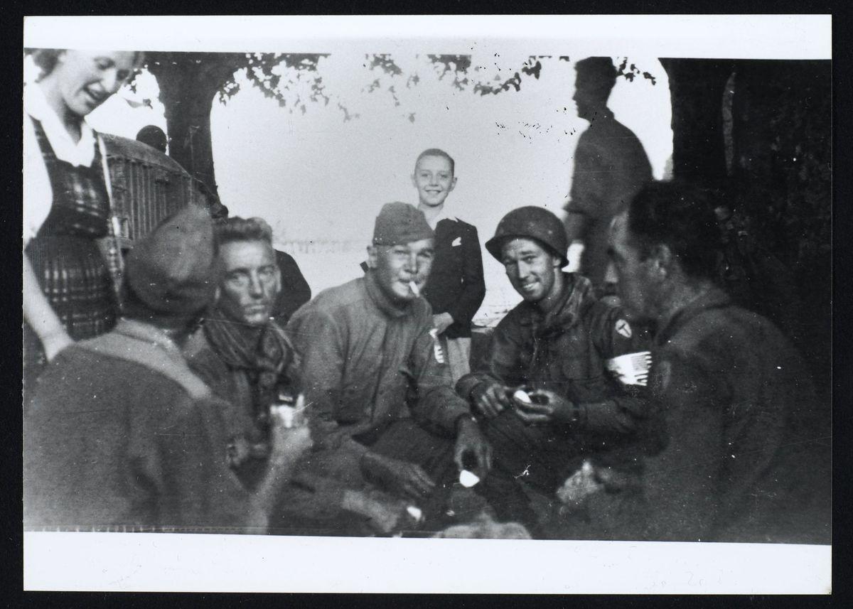 Soldats américains à la libération de Grenoble, août 1944 Photographie Août 1944