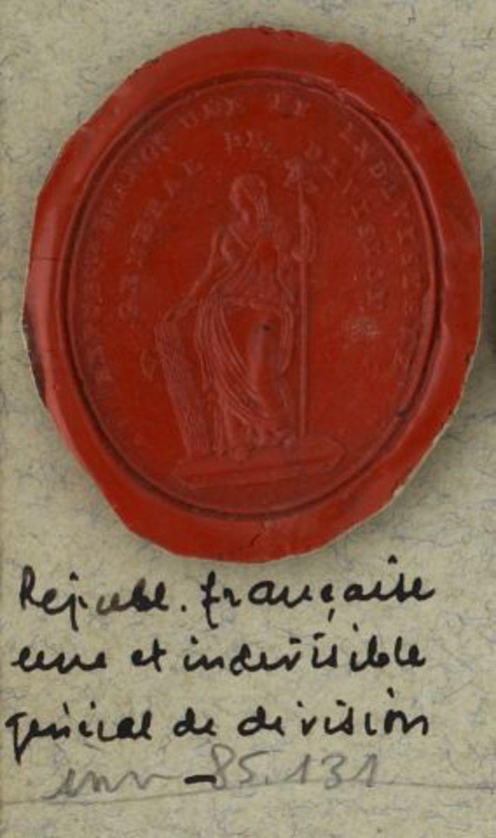 Sceau - République France, une et indivisible - Général de Division. Objet