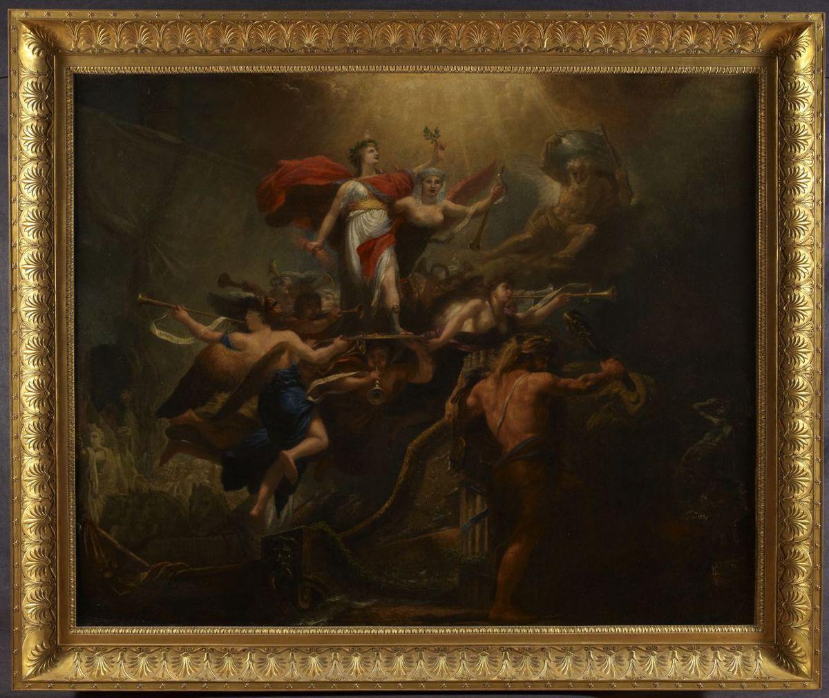 Tableau allégorique du 18 Brumaire an VIII. Peinture