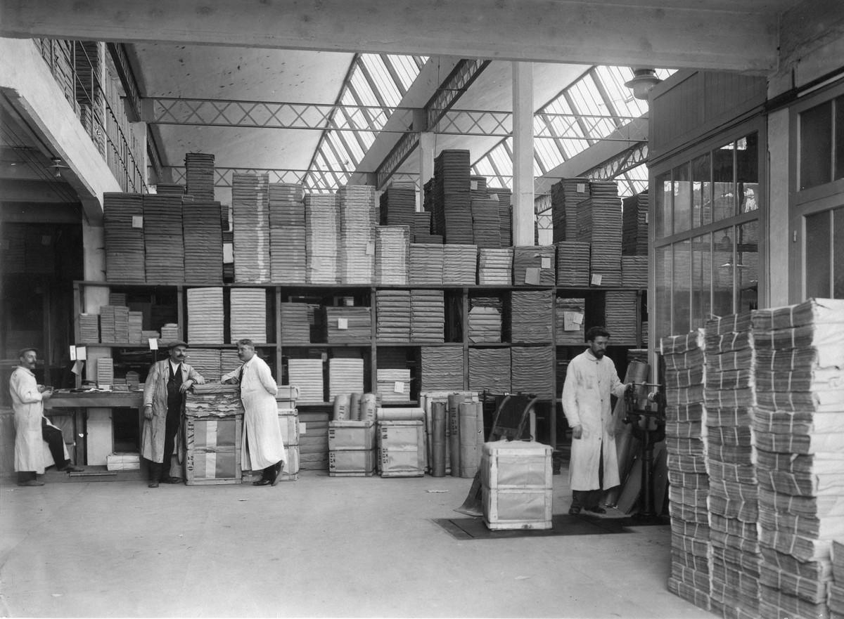 Maison de Lyon ; magasin à papier Photographie