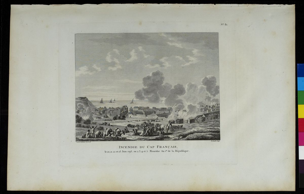 Incendie du Cap-Français, juin 1793 Arts graphiques