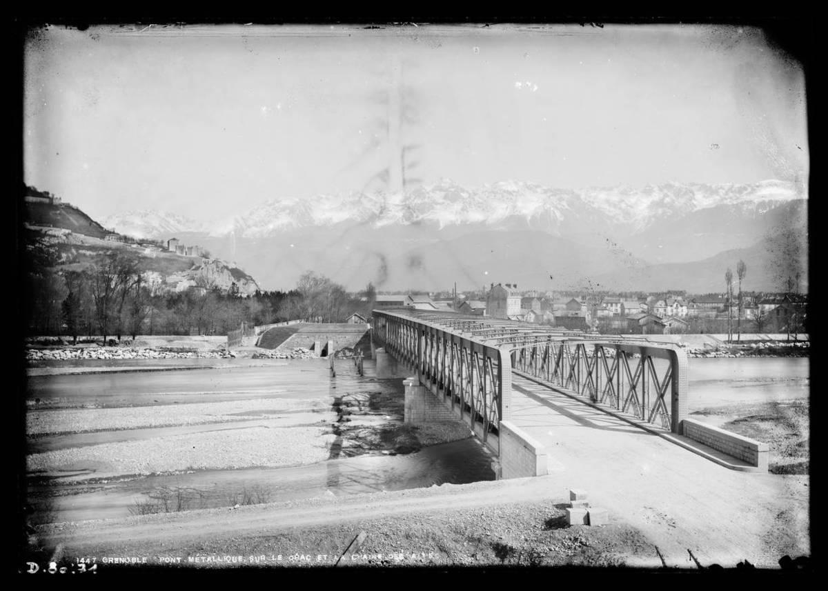Grenoble : pont métallique sur le Drac Photographie