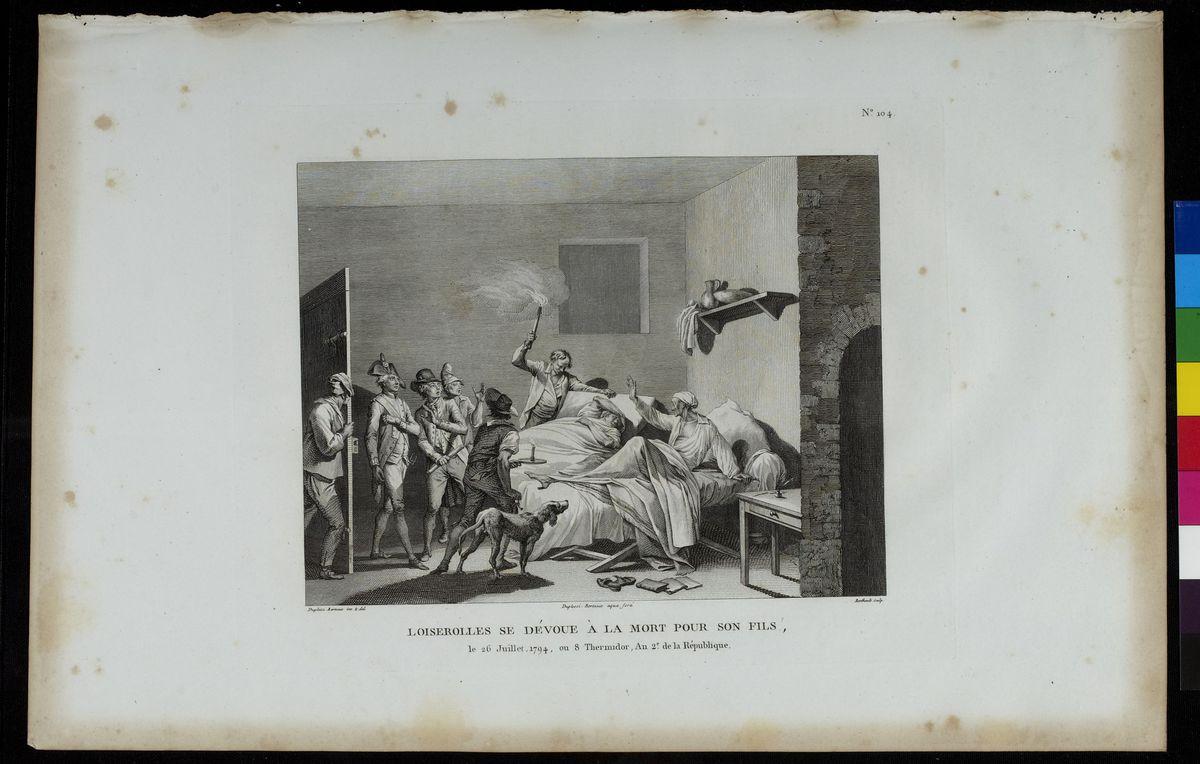 Loiserolles se dévoue à la mort pour son fils ; le 26 juillet 1794 Arts graphiques