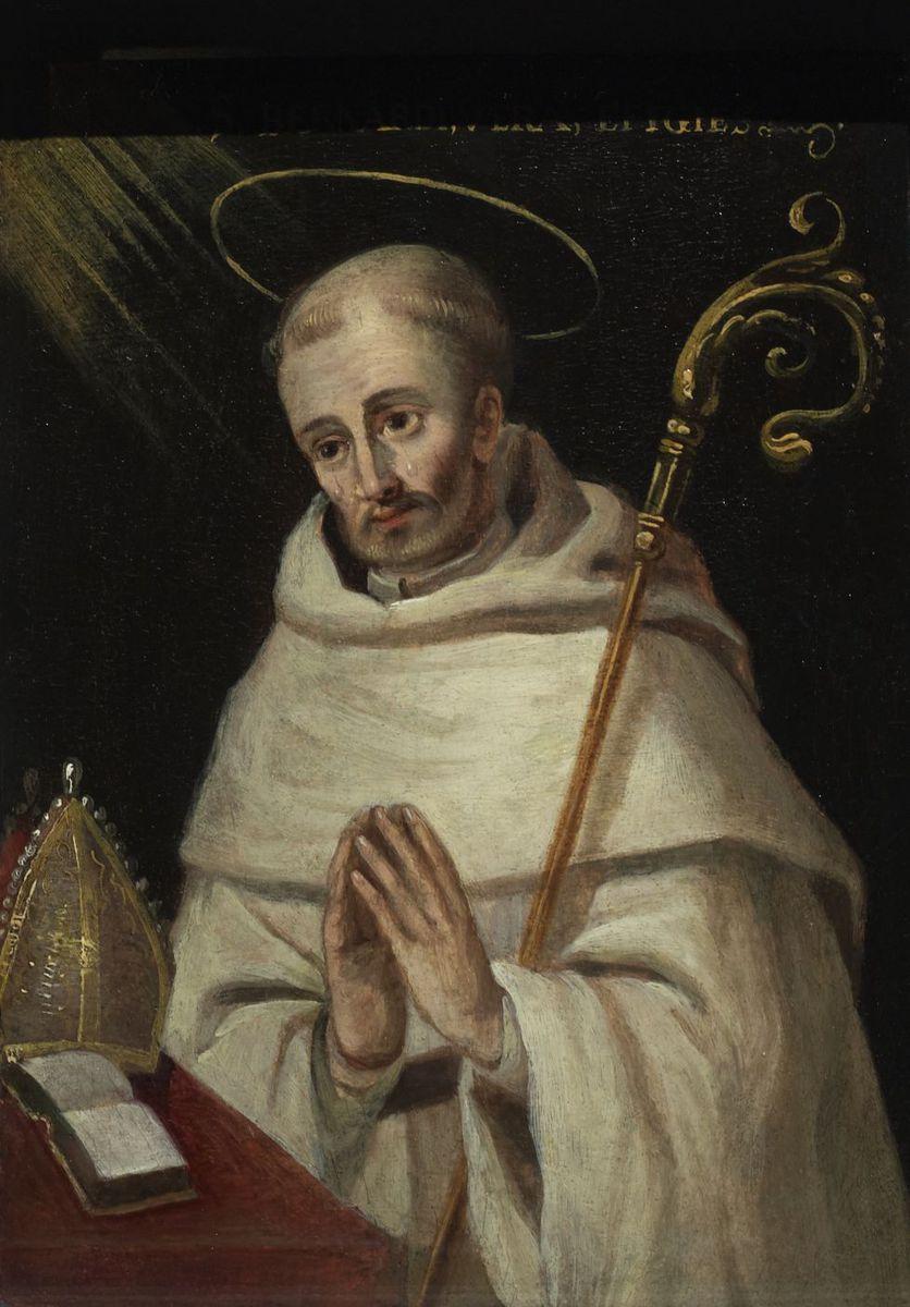 Portrait de saint Bernard de Clairvaux peinture