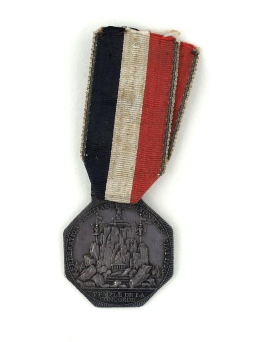 Fédération nationale de Lyon le 30 mai 1790. numismatique