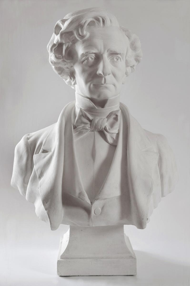 Portrait d'Hector Berlioz Sculpture 1885