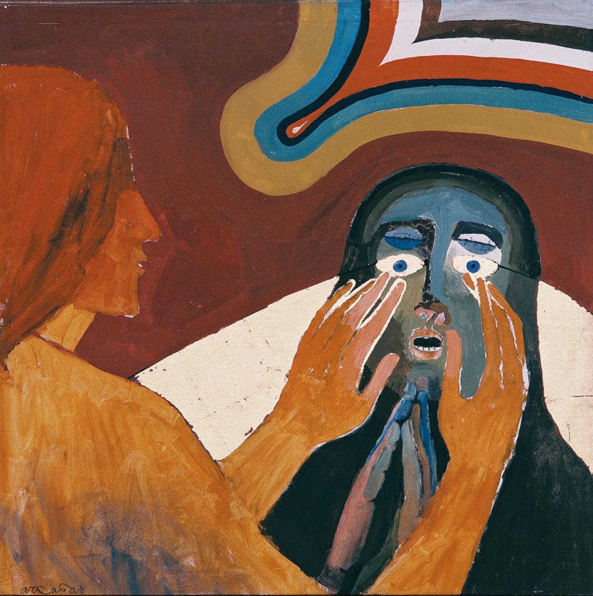 L'aveugle de Bethsaïda Peinture 1986