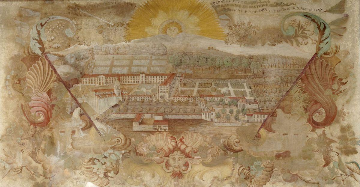 Vue et perspective de l'Abbaye de Saint-Antoine arts graphiques ; peinture 1745