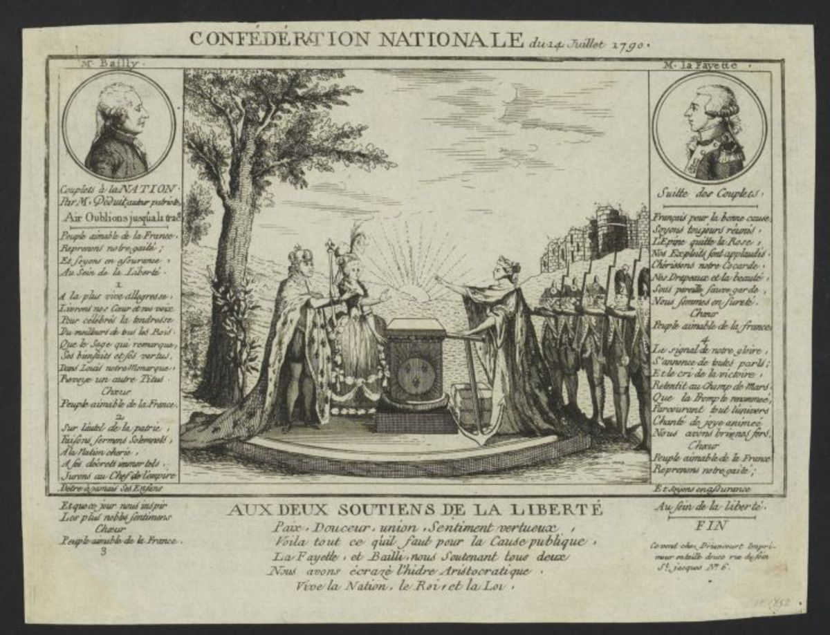 Confédération Nationale du 14 juillet 1790 Estampe