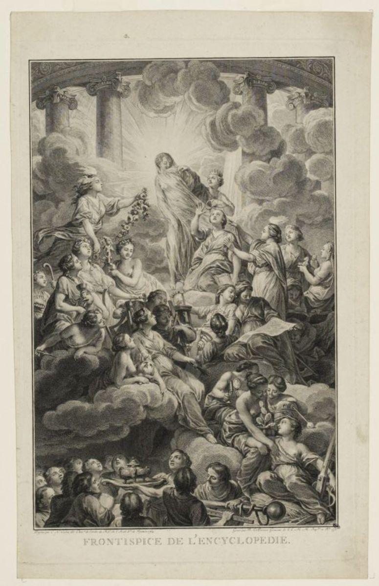 Frontispice de l'Encyclopédie Estampe