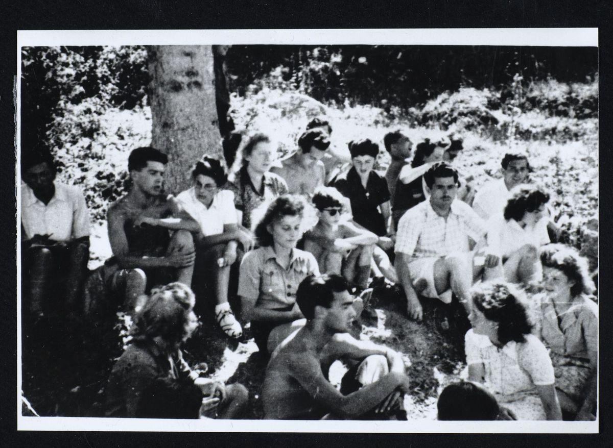 Groupe du Mouvement de la Jeunesse sioniste, Saint-Nizier-du-Moucherotte, 1944 Photographie 1944
